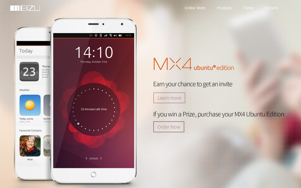 The new Meizu Ubuntu-powered smartphone