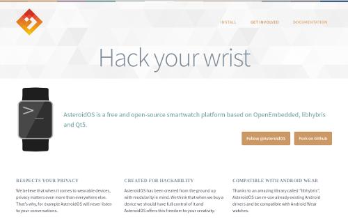 AsteroidOS: A free smartwatch platform.