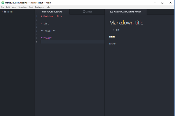 Markdown editing and previewing with Atom on Windows 10