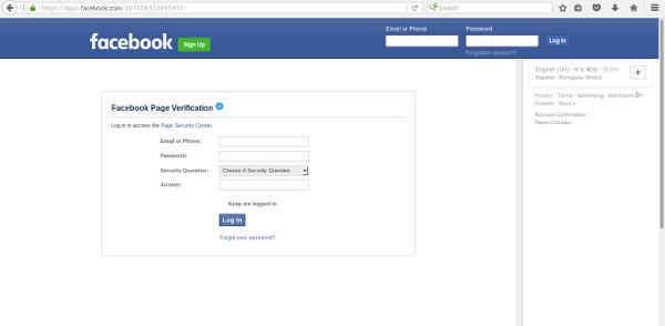 Facebook phishing app
