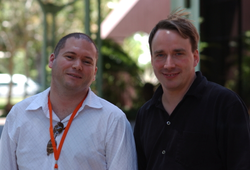 Linus Torvalds and Rodney Gedda